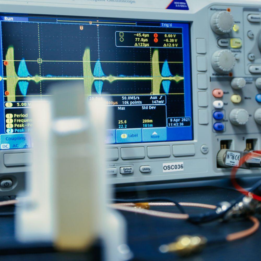 ultrasound power transmission functionnal test