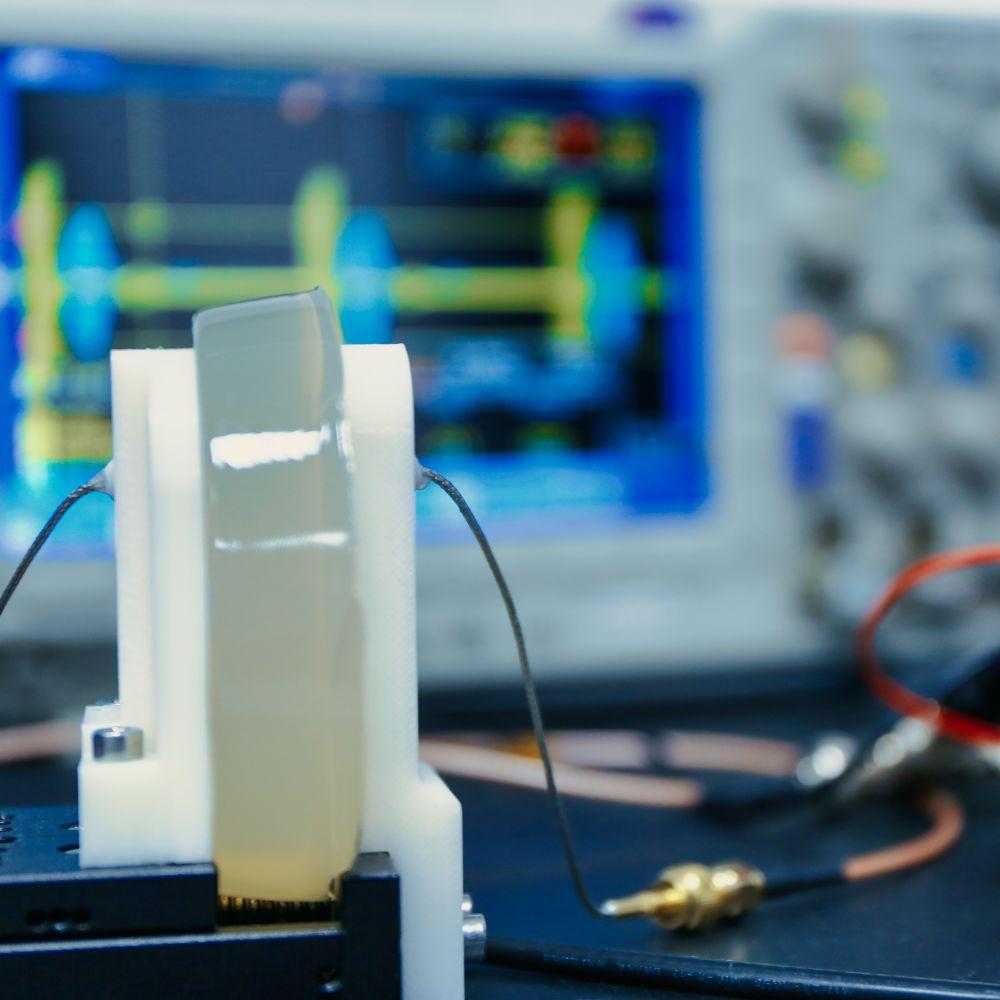 a transcutaneous wireless ultrasound power transmission